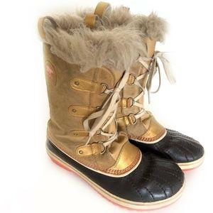 Sorel Joan Of Arc Boots Size 7 Womens Tan